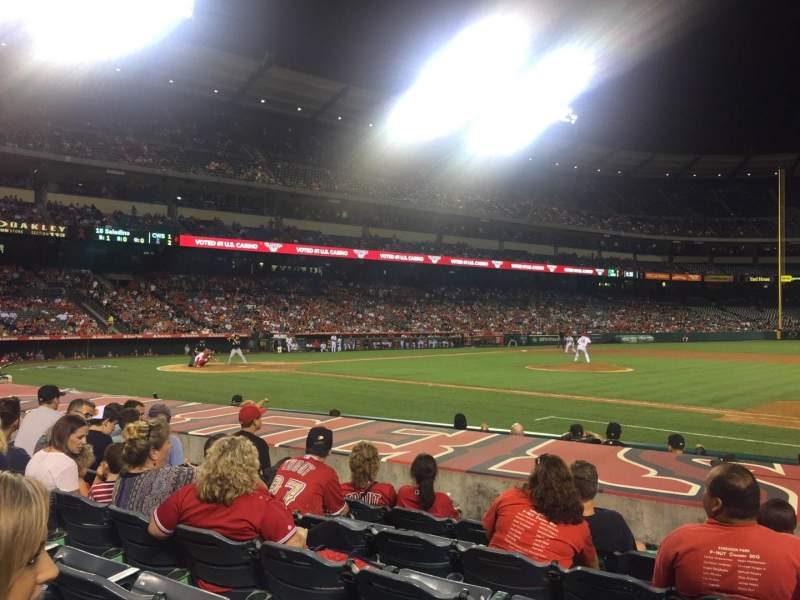 Seating view for Angel Stadium Section F125 Row H Seat 15