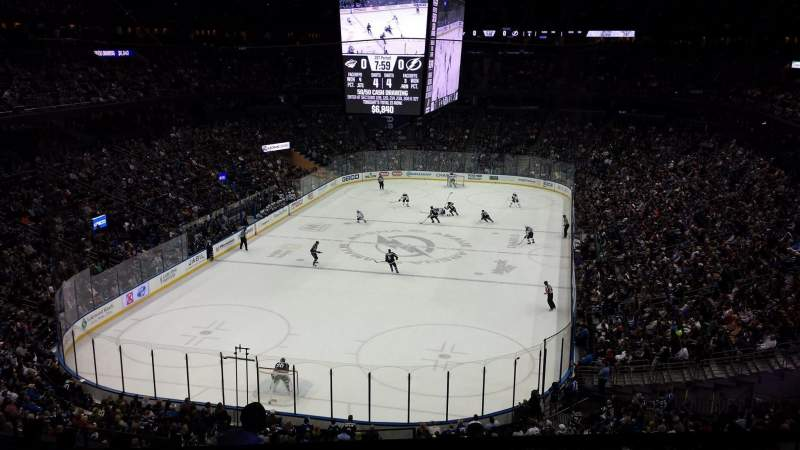 Seating view for Amalie Arena Section CLUB 12 Row B Seat 18