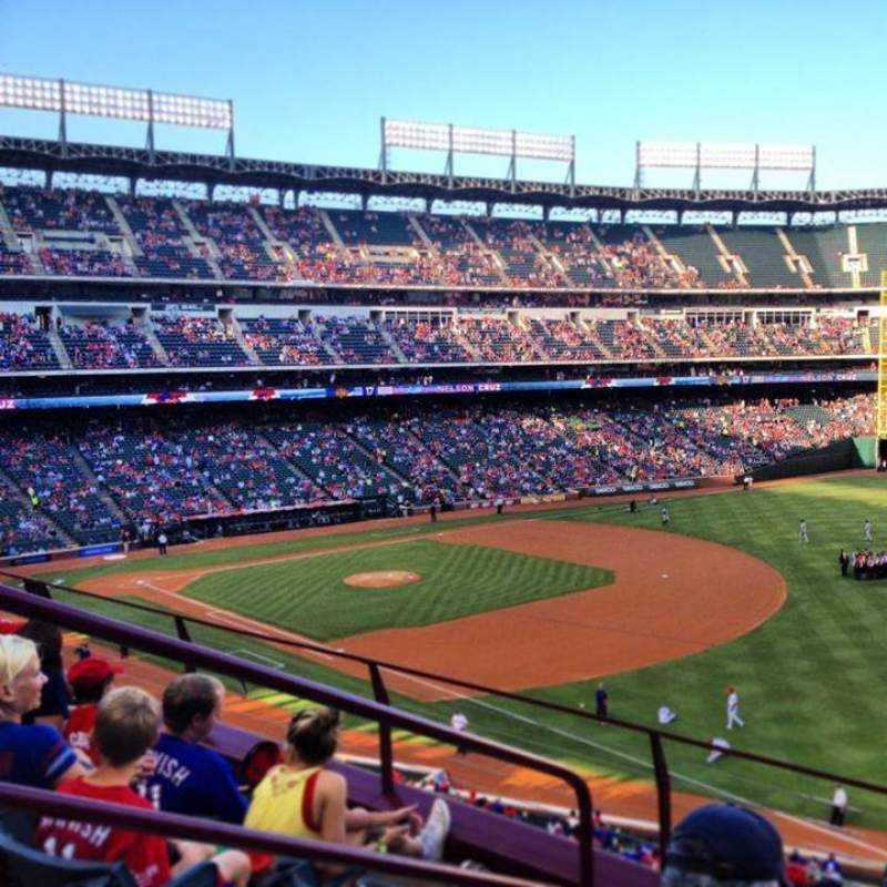 Seating view for Globe Life Park in Arlington Section 239 Row 4 Seat 3