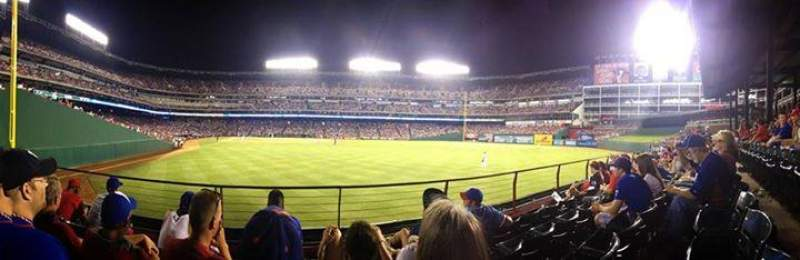 Seating view for Globe Life Park in Arlington Section 45 Row 4 Seat 5