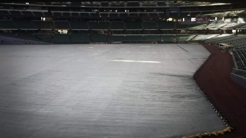 Seating view for Miller Park Section Friday's Front Row Row Table on the Seat 1
