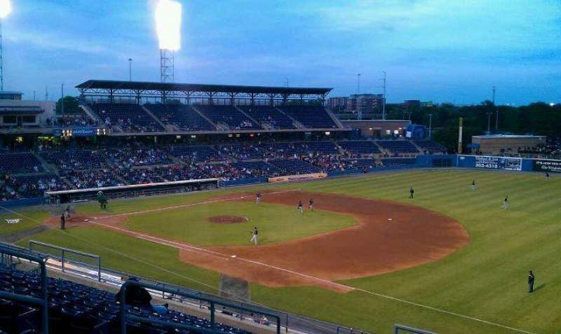 Seating view for Harbor Park Section 312 Row N Seat 9