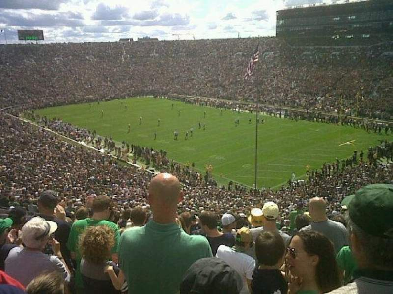 Seating view for Notre Dame Stadium Section 105 Row 19 Seat 1