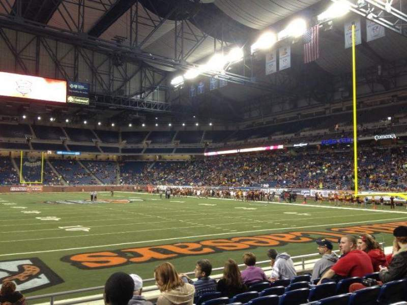 Seating view for Ford Field Section 115 Row 6