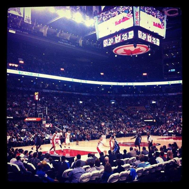 Seating view for Air Canada Centre Section 121 Row 6 Seat 7