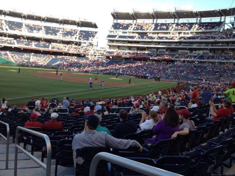 Seating view for NATIONALS Park Section 109 Row aa Seat 1