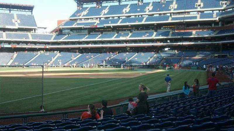 Seating view for Citizens Bank Park Section 137 Row 11 Seat 11