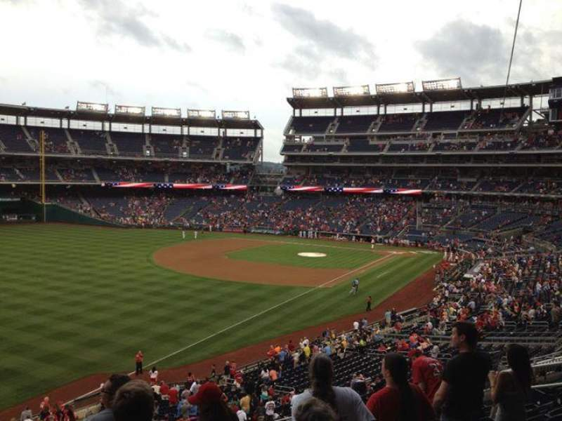 Seating view for Nationals Park Section 202 Row H Seat 14