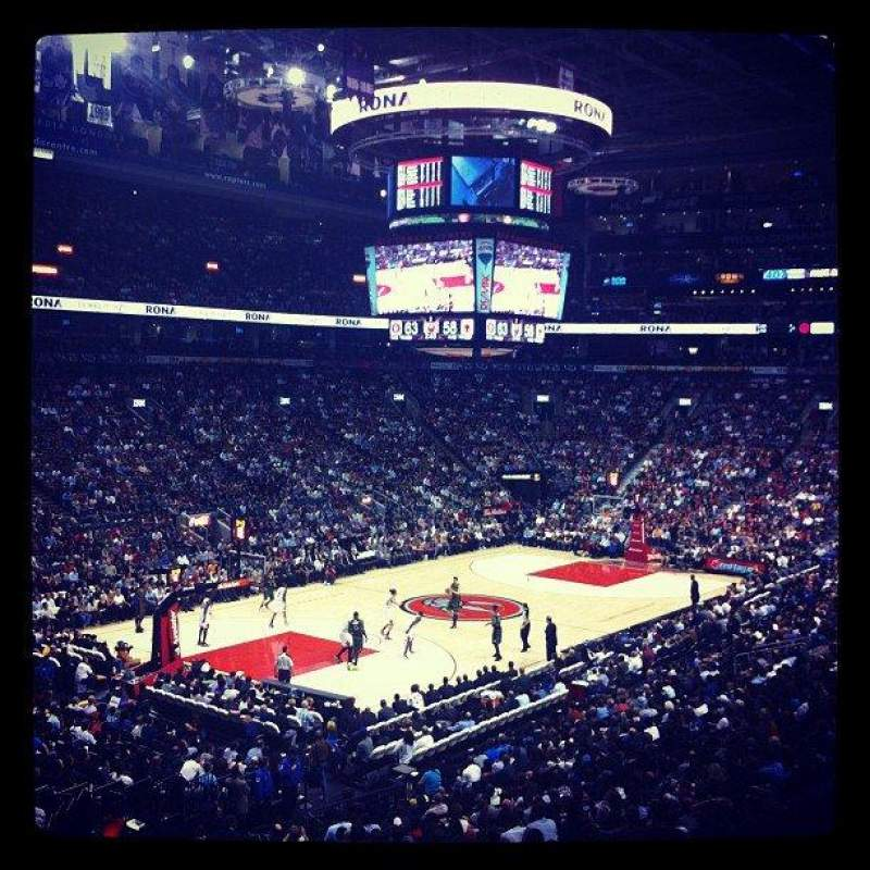Seating view for Air Canada Centre Section 122 Row 28 Seat 17