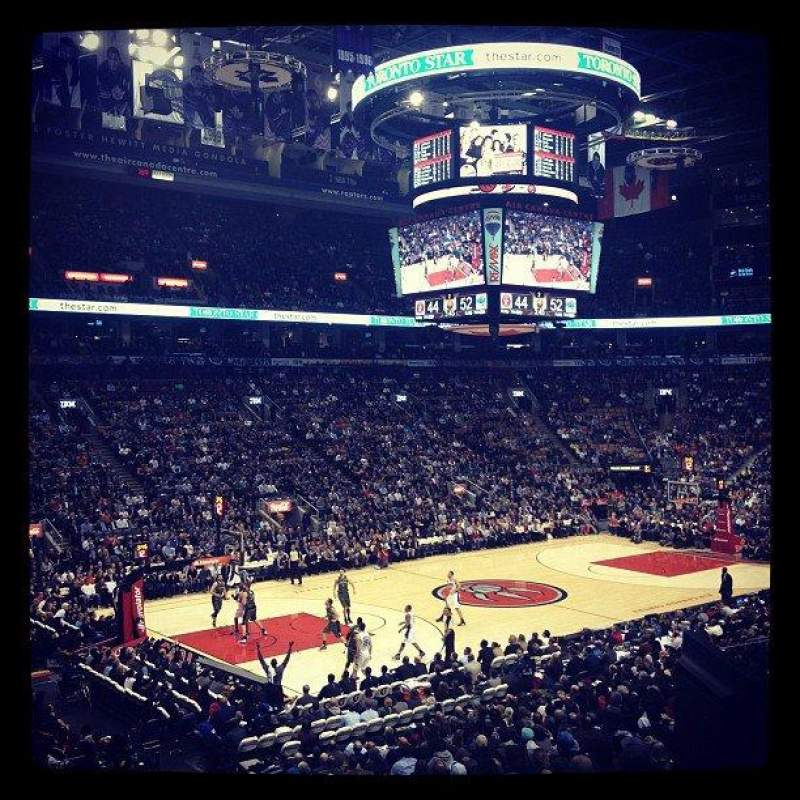 Seating view for Air Canada Centre Section 121 Row 24 Seat 17