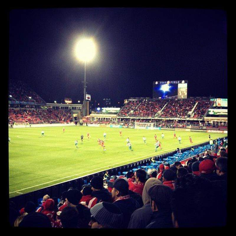 Seating view for BMO Field Section 111 Row 13 Seat 9