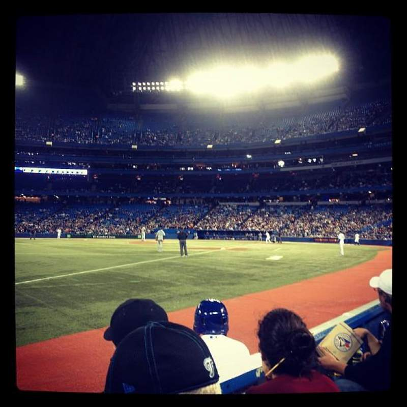 Seating view for Rogers Centre Section 127R Row 1 Seat 1