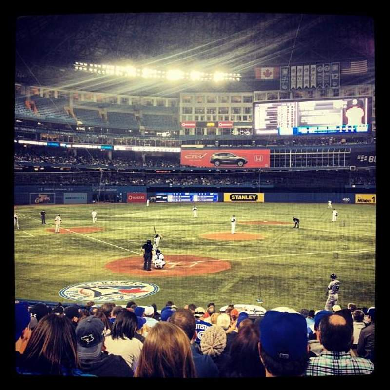 Seating view for Rogers Centre Section 120L Row 24 Seat 104