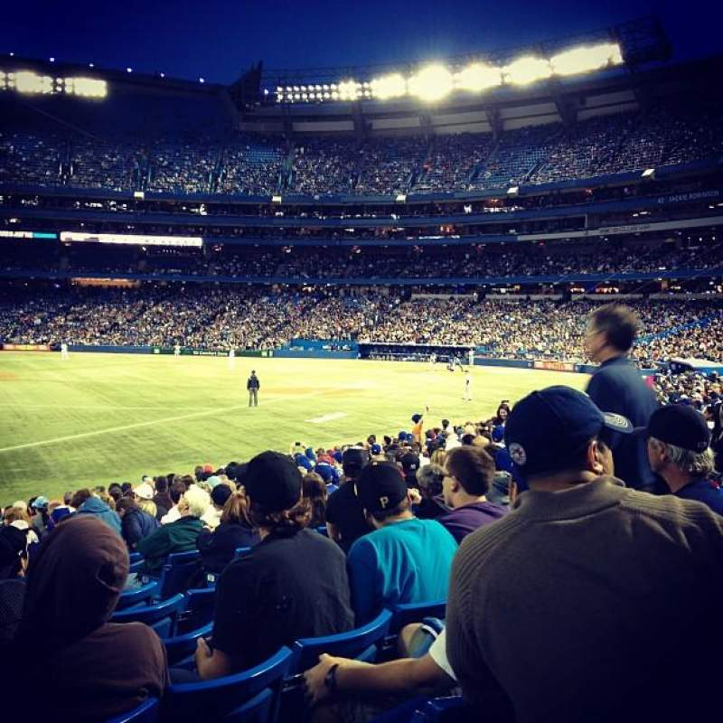 Seating view for Rogers Centre Section 130 Row 19 Seat 105