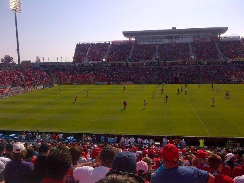 Seating view for BMO Field Section 108 Row 26 Seat 9