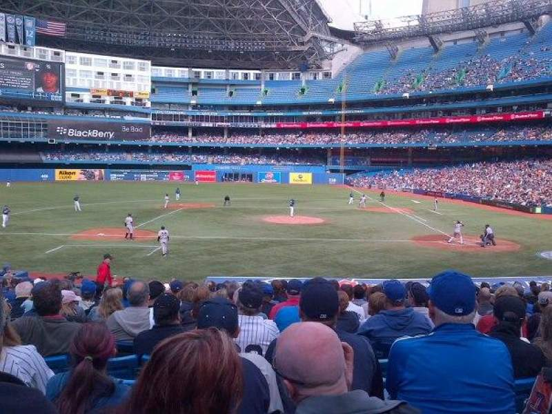 Seating view for Rogers Centre Section 126 Row 24