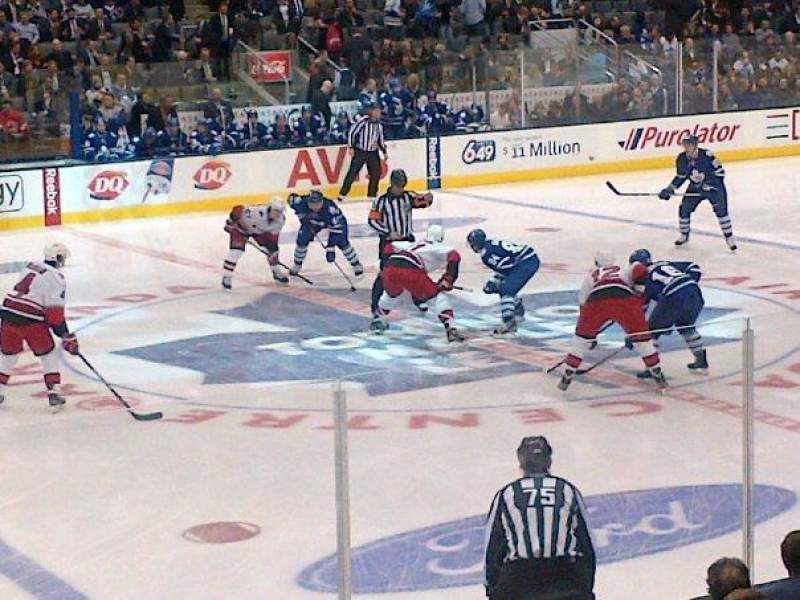 Seating view for Air Canada Centre Section 109 Row 9 Seat 17