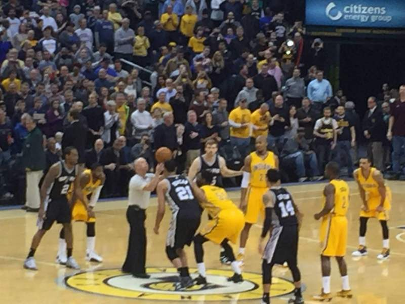 Seating view for Bankers Life Fieldhouse Section 7 Row 13 Seat 9