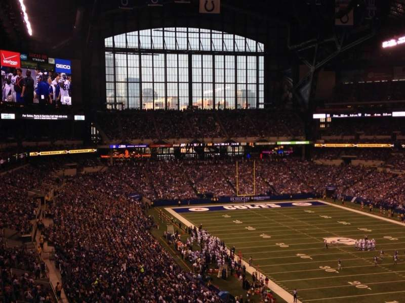 Seating view for Lucas Oil Stadium Section 431 Row 9 Seat 5