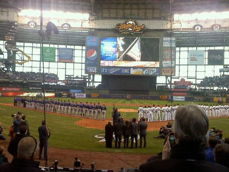Seating view for Miller Park Section 117 Row 9 Seat 1 & 2