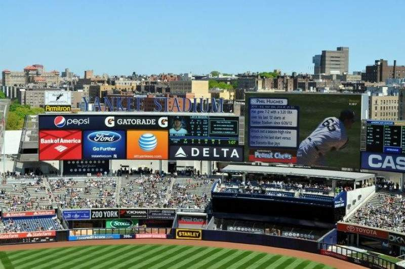 Seating view for Yankee Stadium Section 417 Row 11 Seat 6