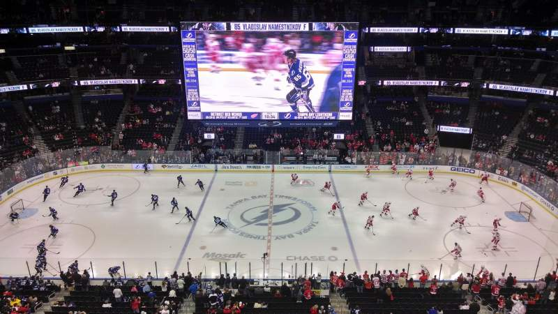 Seating view for Amalie Arena