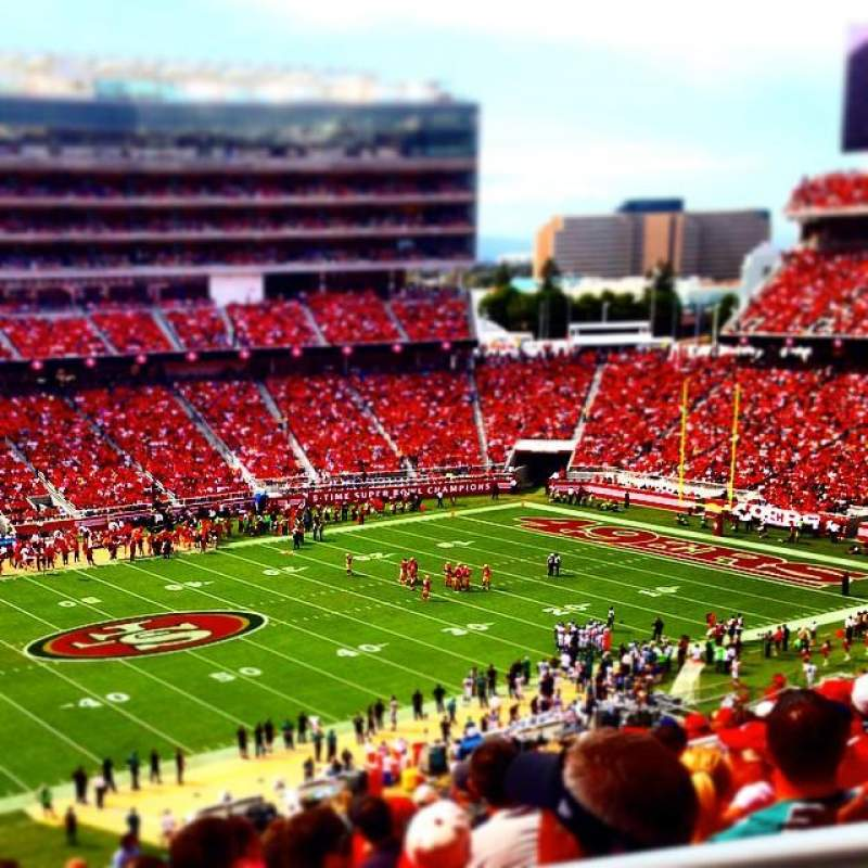 Seating view for Levi's Stadium Section 221 Row 23 Seat 1