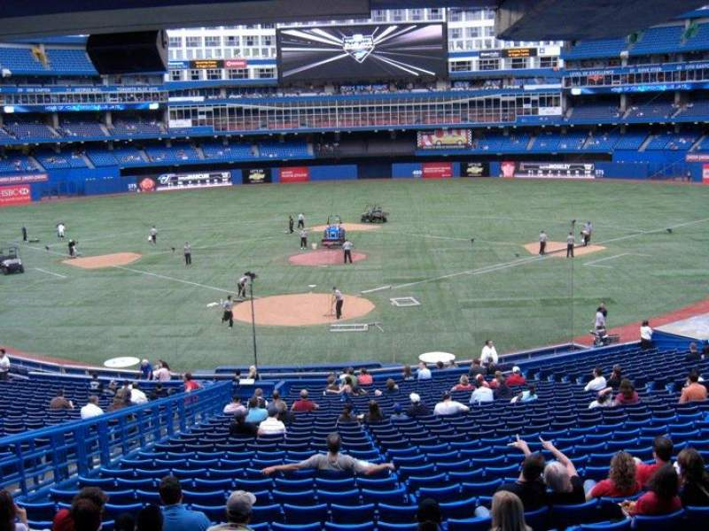 Seating view for Rogers Centre Section 121R Row 22 Seat 3