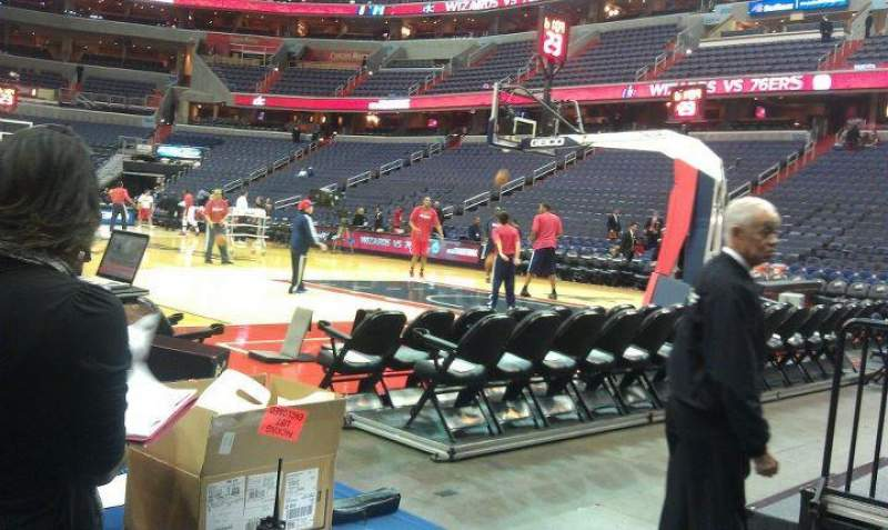 Seating view for Verizon Center Section 113 Row A Seat 11