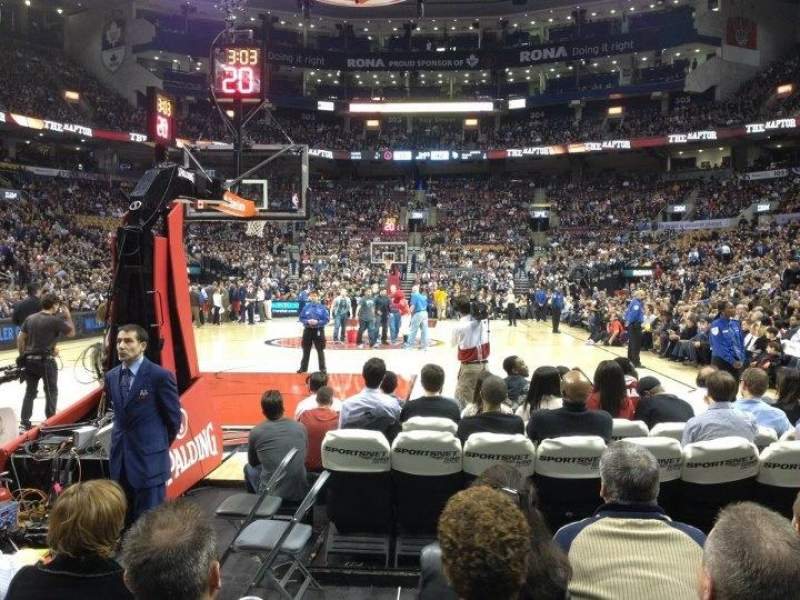 Seating view for Air Canada Centre Section 113 Row 5 Seat 7