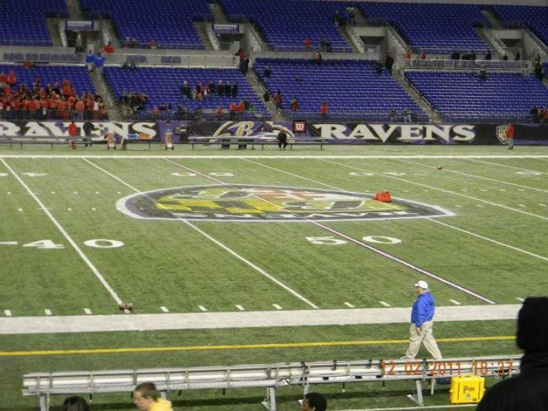 Seating view for M&T Bank Stadium Section 100