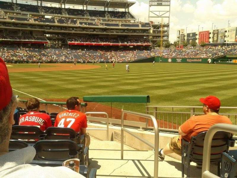 Seating view for Nationals Park Section 136 Row r Seat 1