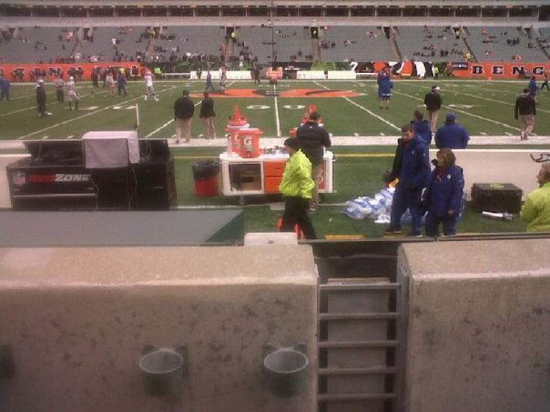 Paul Brown Stadium, section: 110, row: 2, seat: 11 and 12