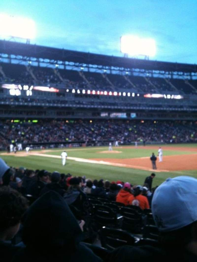 Seating view for Guaranteed Rate Field Section 118 Row 15 Seat 3