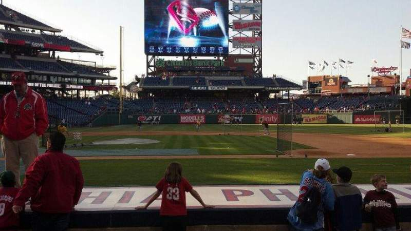 Seating view for Citizens Bank Park Section 117 Row 7 Seat 5