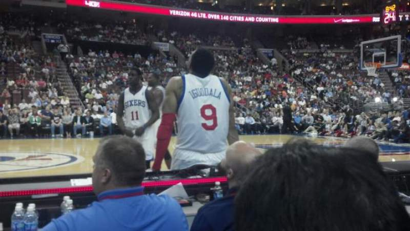 Seating view for Wells Fargo Center Section 101 Row BB Seat 10