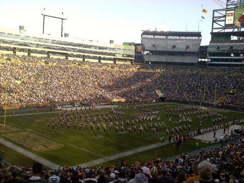 Seating view for Lambeau Field Section 108 Row 51 Seat 26