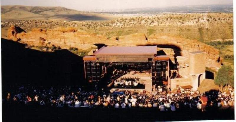 Seating view for Red Rocks Amphitheatre Section Very tip top