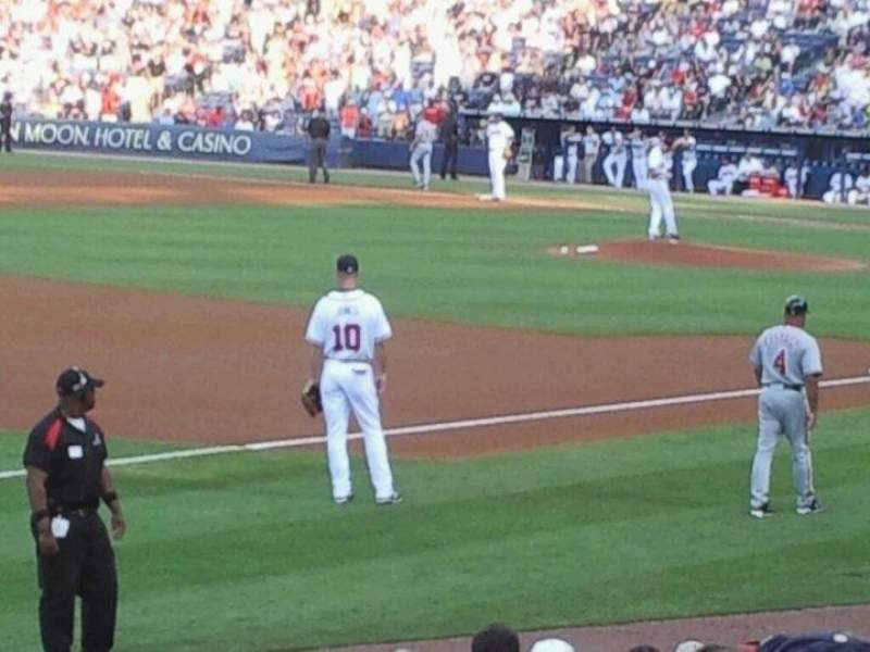 Seating view for Turner Field Section 222 Row 6 Seat 7
