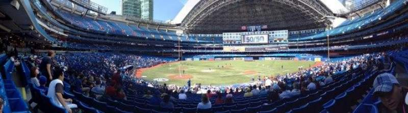 Seating view for Rogers Centre Section 118 Row 32 Seat 5