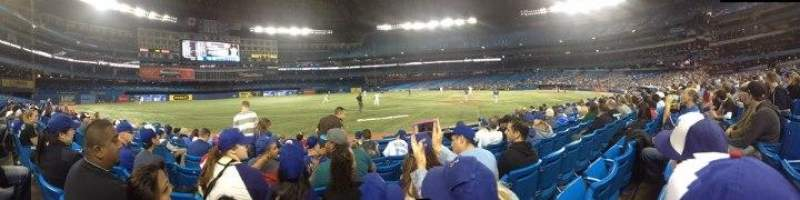 Seating view for Rogers Centre Section 129R Row 6 Seat 7