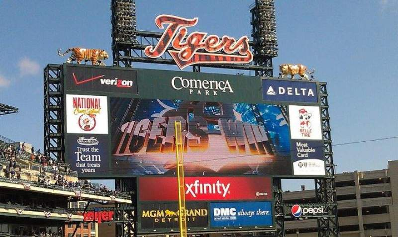 Seating view for Comerica Park Section 132 Row 32 Seat 8