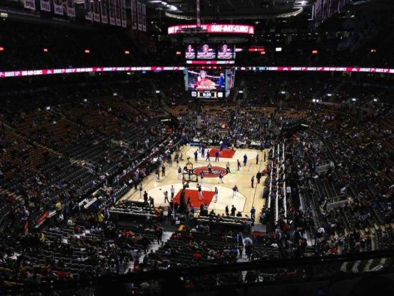 Seating view for Air Canada Centre Section 301 Row 4 Seat 10