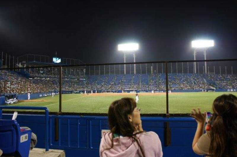 Seating view for Jingu Stadium Section Outfield Reserved C Row 3 Seat 1