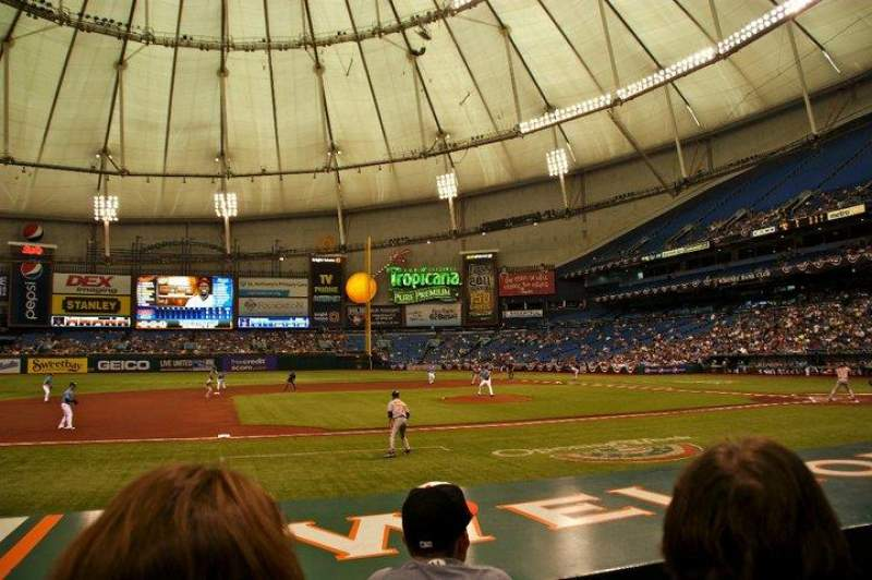 Seating view for Tropicana Field Section 117 Row M