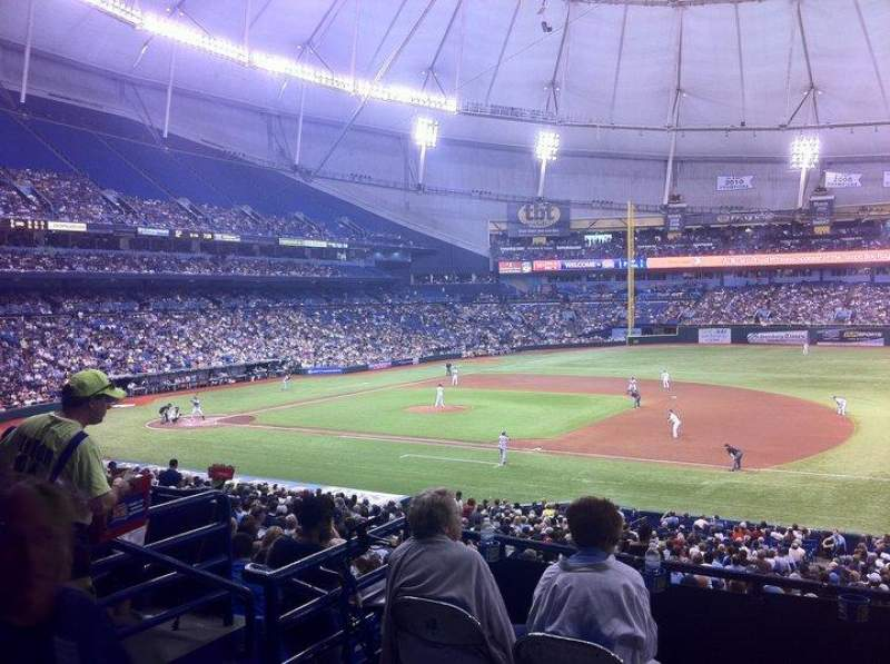 Seating view for Tropicana Field Section 216 Row 1
