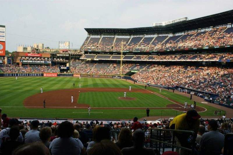 Seating view for Turner Field Section 218