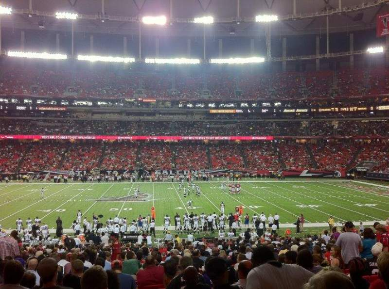 Seating view for Georgia Dome Section 135 Row 32 Seat 7