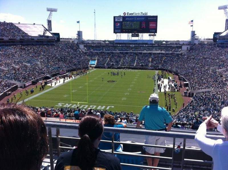 Seating view for Everbank Field Section 321 Row C