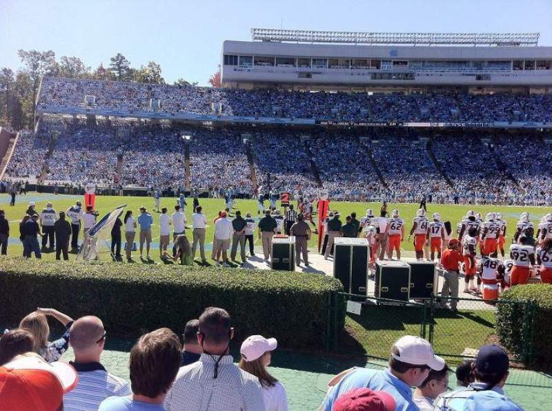 Seating view for Kenan Memorial Stadium Section 104 Row F Seat 6